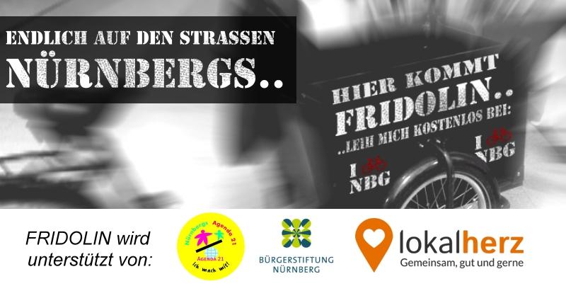 Fridolin: Ein Lastenfahrrad in Nürnberg