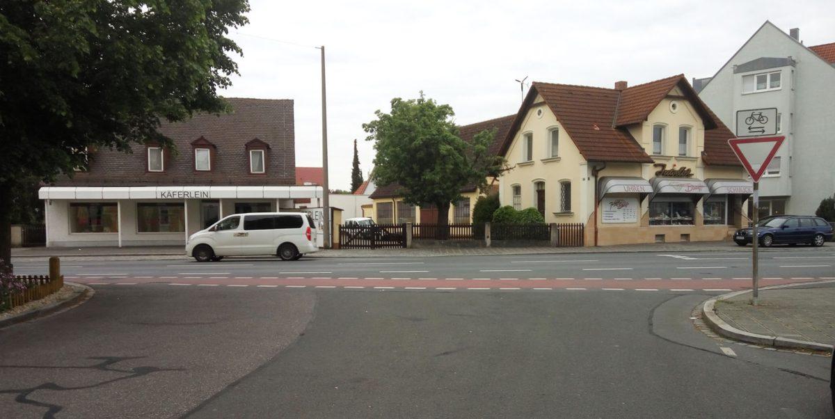 Radfahrergefährdung in Nürnberg/Eibach