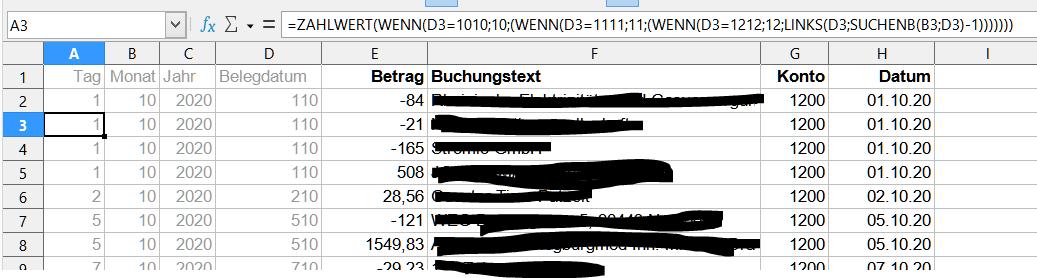 DATEV-Zahlungsbericht in EÜR importieren